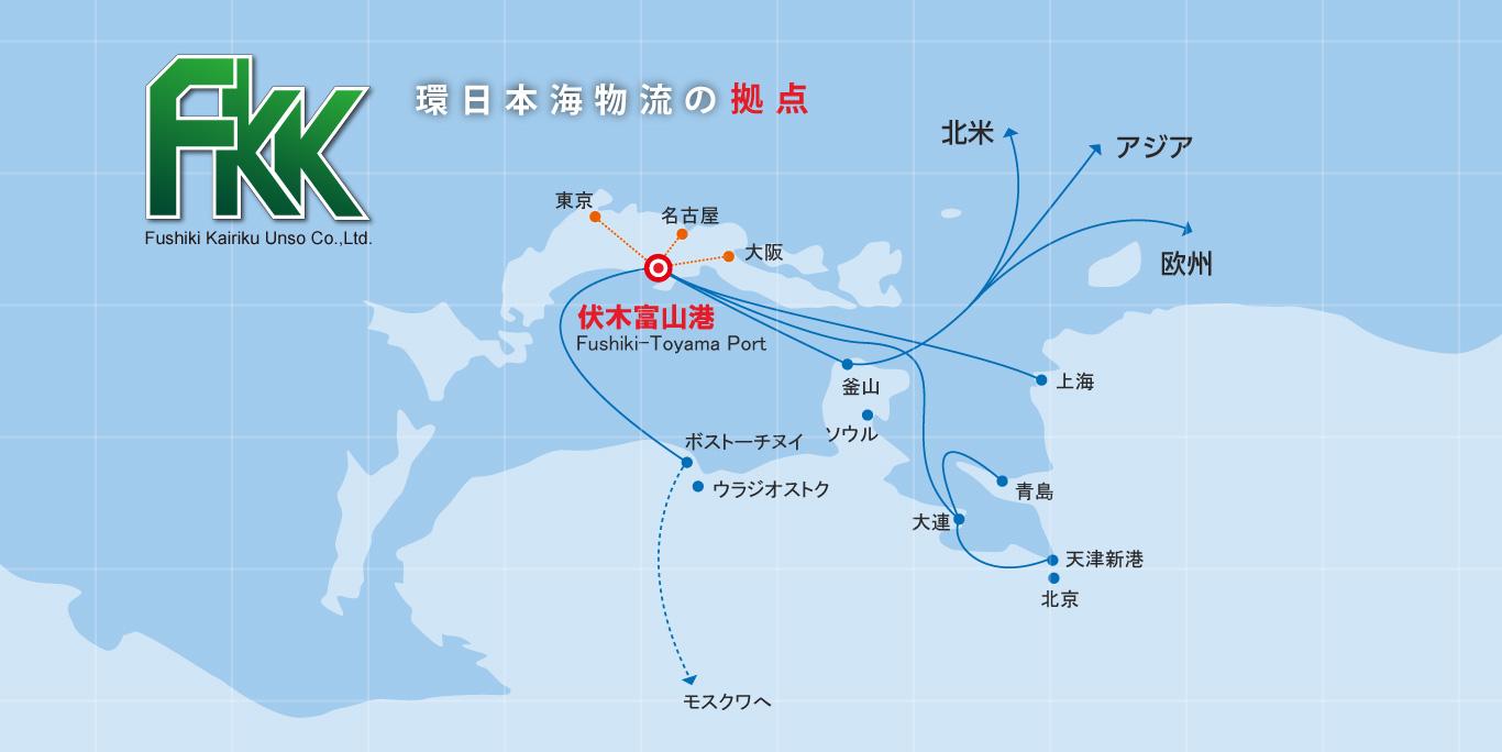 環日本海物流の拠点
