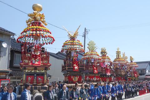 伏木曳山祭への参加