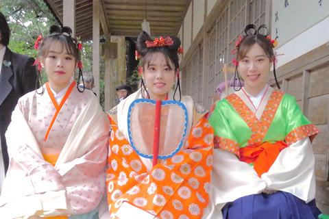 地元の神社のお祭りに参加